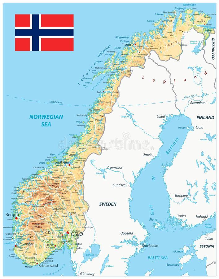 Cartina Fisica Della Norvegia.Norvegia Caratteristiche Paese E Opportunita Per L Italia Efdt International Vibes